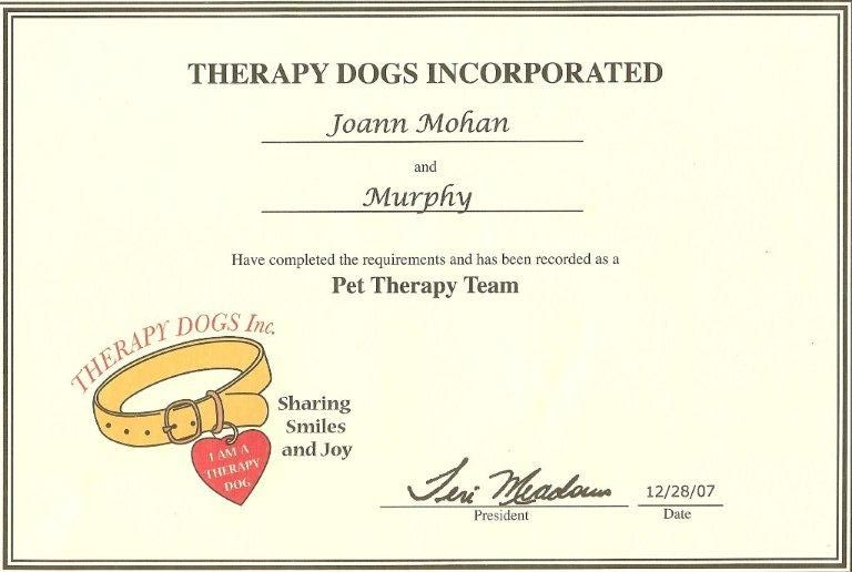 Bellachampions for Service animal certificate template